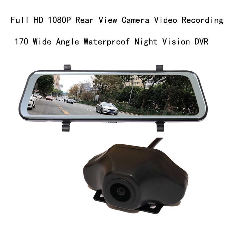 Otstrive 10 بوصة أداس WiFi بلوتوث الروبوت 8.1 GPS المزدوج عدسة DVR كامل HD 1080 P 4G سيم شبكة مسجل فيديو مرآة الرؤية الخلفية