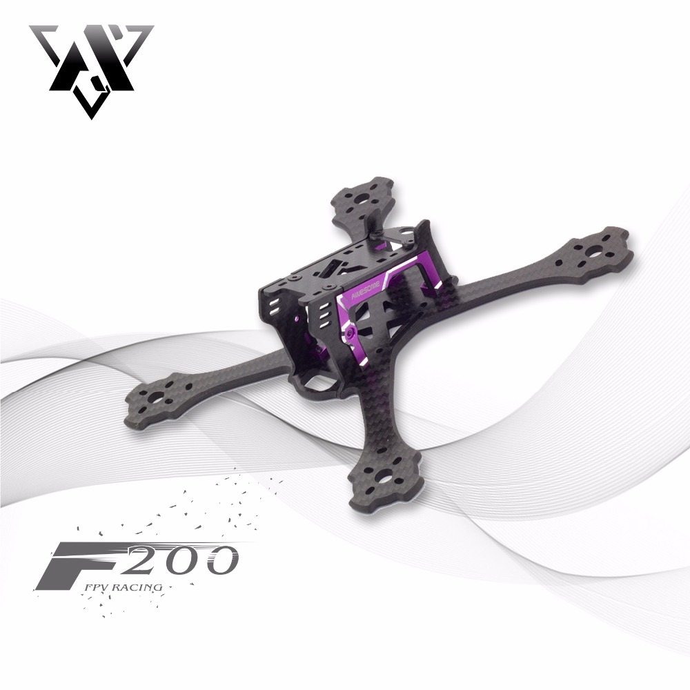 Awesome F200 200mm Drone frame Kit Wheelbase FPV four-axis Quadcopter Frame Kit Carbon Fiber for RC Racing Drone Frame Drone DIY transtec freedom 215mm 4mm 3k carbon fiber quad frame kit for multirotor fpv rc racing racer frame drone kit quadcopter uav diy