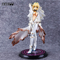YNYNOO Anime Fate Stay Night Saber Blanc De Mariage Robe ver. 1/7 Scale PVC Action Jouets Figure Collection Modèle Toy 22 cm AF095