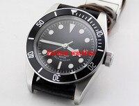 Corgeut 41 мм 21 Jewel Сапфир Черный Miyota автоматические механические кожаные ремешки Для мужчин наручные часы