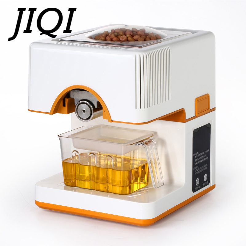 JIQI Oil Extraction Expeller Oil Press Machine Electric Mini Extractor Automatic Seed Nut Peanut Sesame Heat Fried Oil Presser jiqi automatic industrial oil press machine press preheat oil presser 220v 110v peanut soybean high extraction rate household