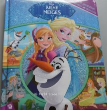 Parent child kids baby classic bedtime story DISNEY Frozen LA REINE DES NEIGES princess picture cardboard French Book Age 2-12(China)