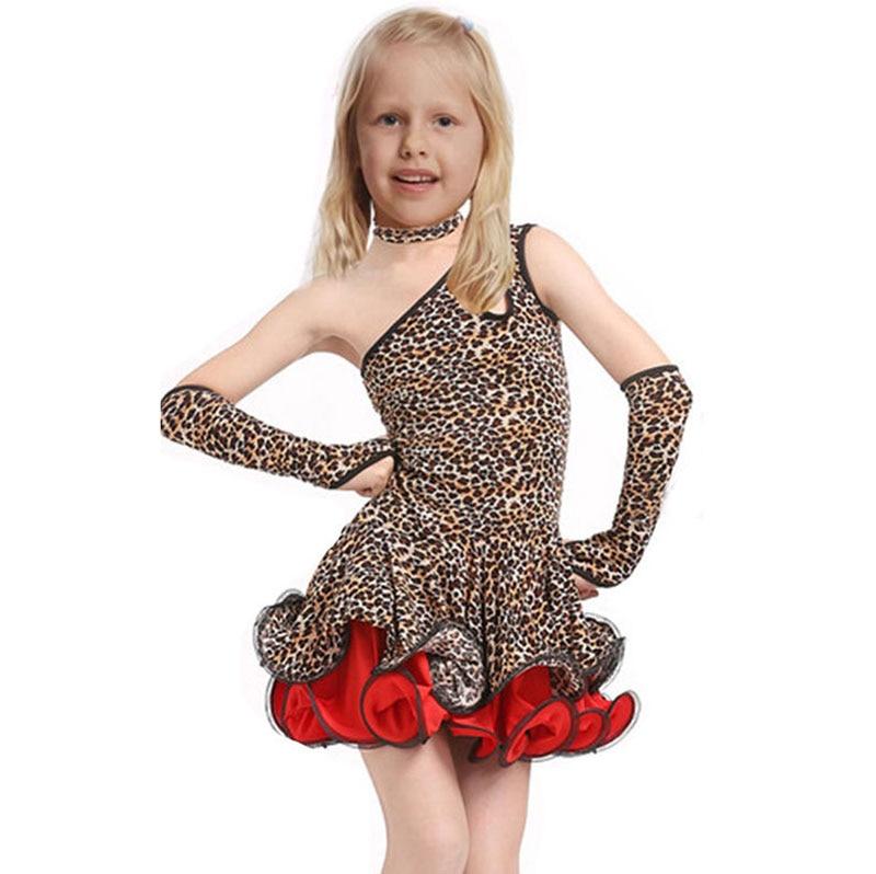 67af24a792f9b Detail Feedback Questions about Leopard Grain Latin Girls Dance Dress For  Girls Dancewear Samba Ballroom Dancing Ballet Performance Dresses Kids  Vestido ...