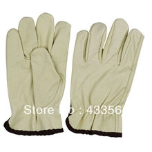 Free delivery Western model Protecting security Leather driver working glove in Genuine leather-based and occasional cuff