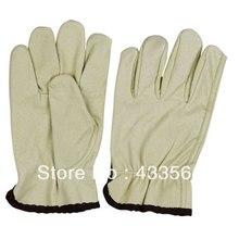 Бесплатная доставка Западный стиль Защита безопасности рабочие перчатки Кожаные драйверов Из Натуральной кожи и кофе манжеты
