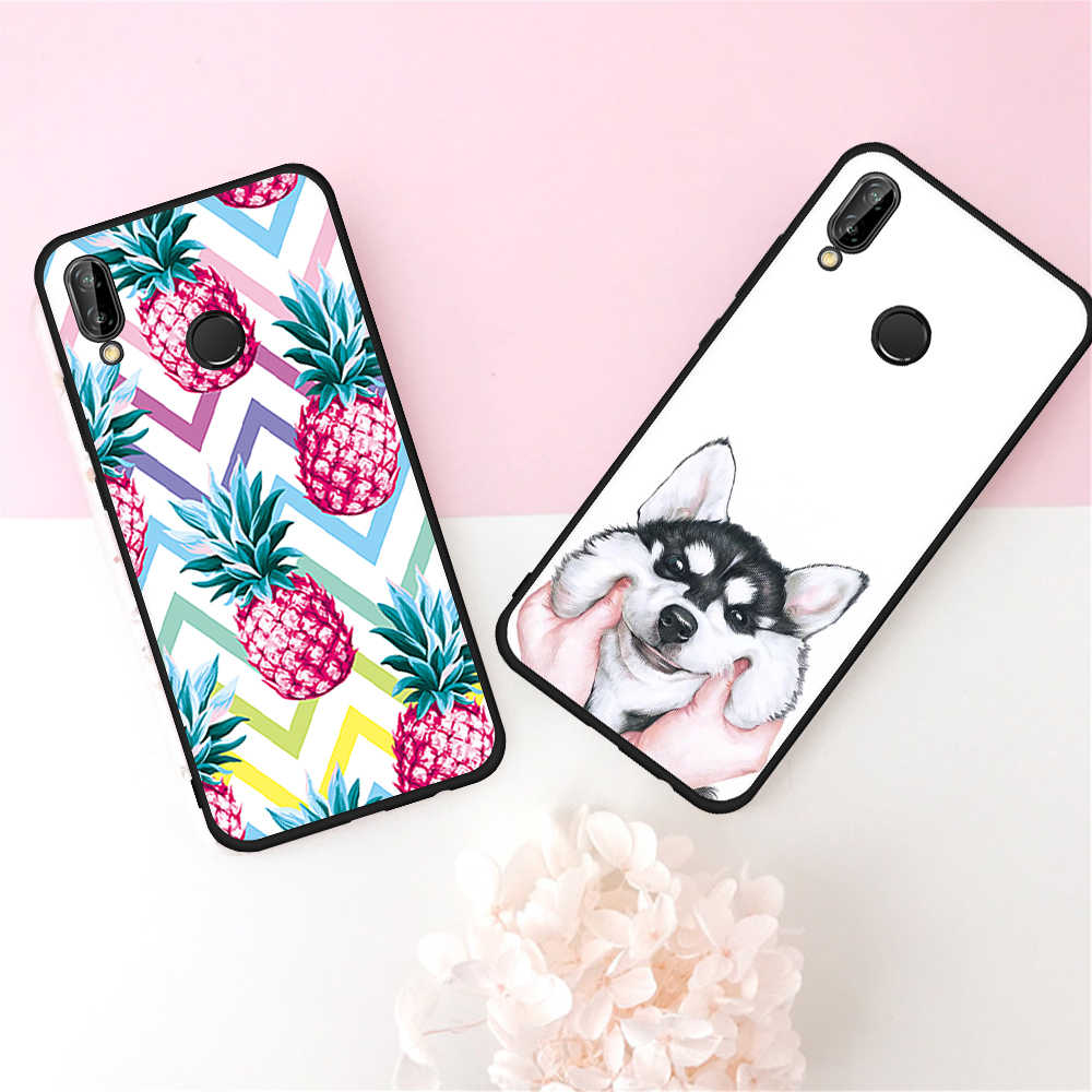 Housse motif pour Huawei Honor 9 P10 P20 Mate 10 Lite 10 Pro 9i 8 P8 P9 Lite 2017 Coque souple pour téléphone