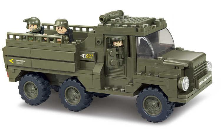 Sluban Military Army spearhead B0310 Building Block Sets 865pcs Educational DIY Jigsaw Construction Bricks toys
