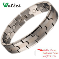 Wollet Jewelry New Arrivals Mens Fashion Tungsten Bracelet Solid Germanium Plus Circle Men Energy Magnetic Tungsten