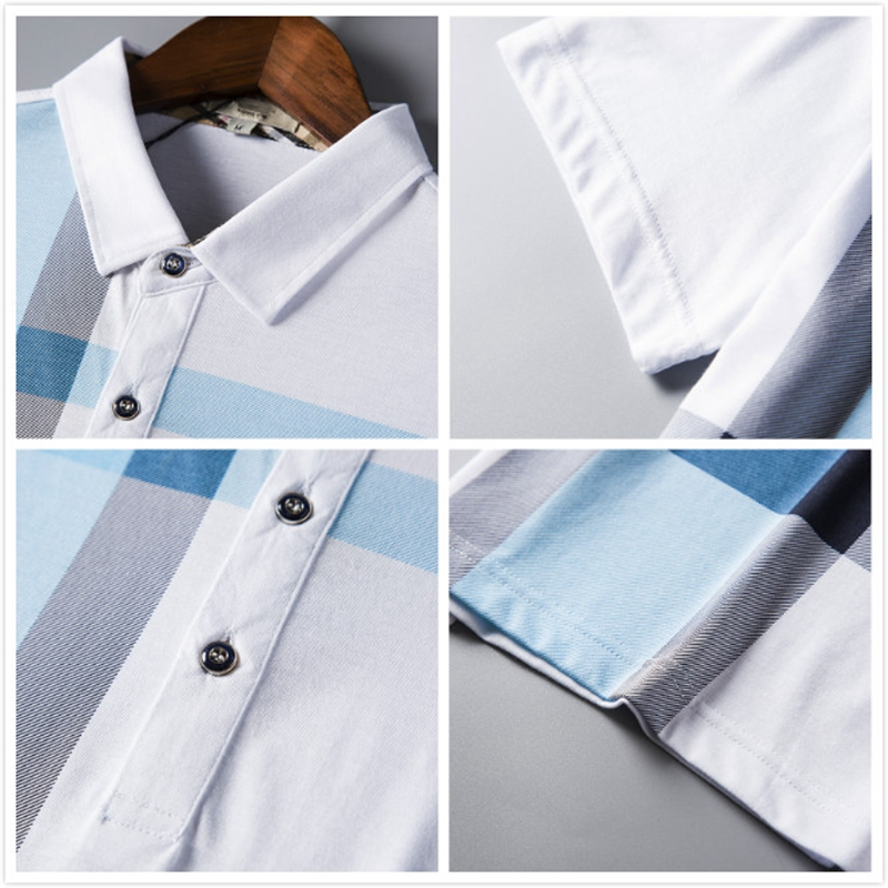 ▄Ultimate DealMen Polo Shirt Hot Sale New plaid 2019 Summer Fashion classic casual tops Short Sleeves Famous Brand Cotton Skull High quality√