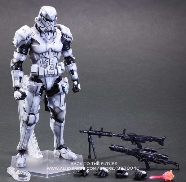 Disney Star Wars Stormtrooper 28cm Action Figure Posture Model Anime Decoration Collection Figurine Toys model for children star wars action figure imperial stormtrooper sic samurai taisho pvc 170mm realization anime star wars model toys tobyfancy
