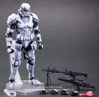 Disney Star Wars Stormtrooper 28cm Action Figure Posture Model Anime Decoration Collection Figurine Toys model for children