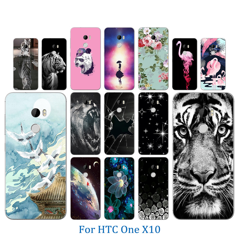 Couple Phone Cases For HTC One X10 Tiger Pattern Coque Funda For HTC One X10 X 10 Soft Silicon Case For HTC E66 5.5