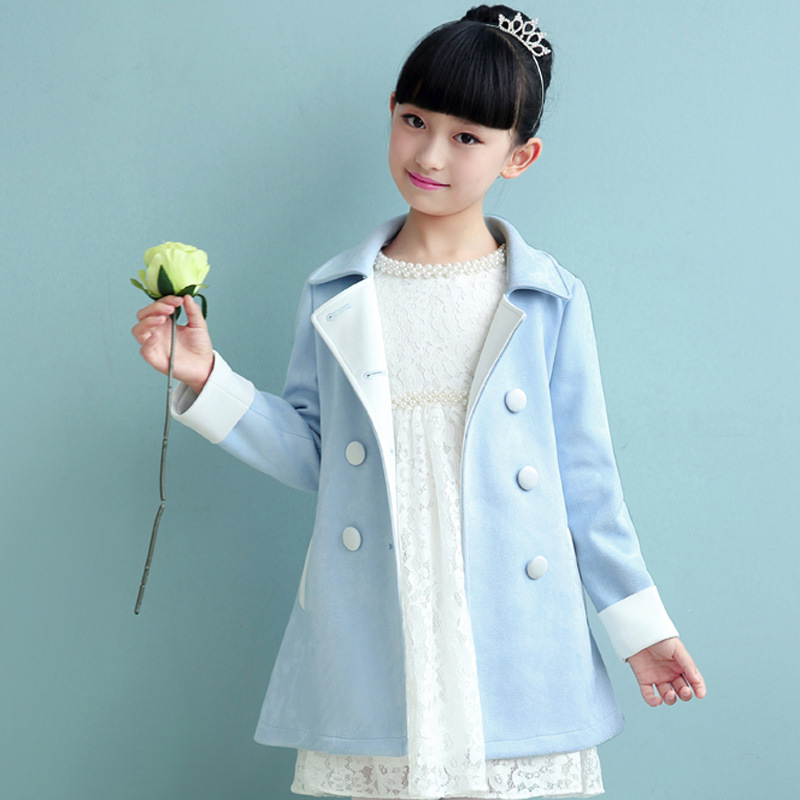 Anlencool High quality girls coat grant of new autumn and winter Korean imitation cashmere coat girls long-sleeved jacket girls anlencool 2018 special offer free shipping children s clothing new fashion girls sunflowers baby coat high quality jacket