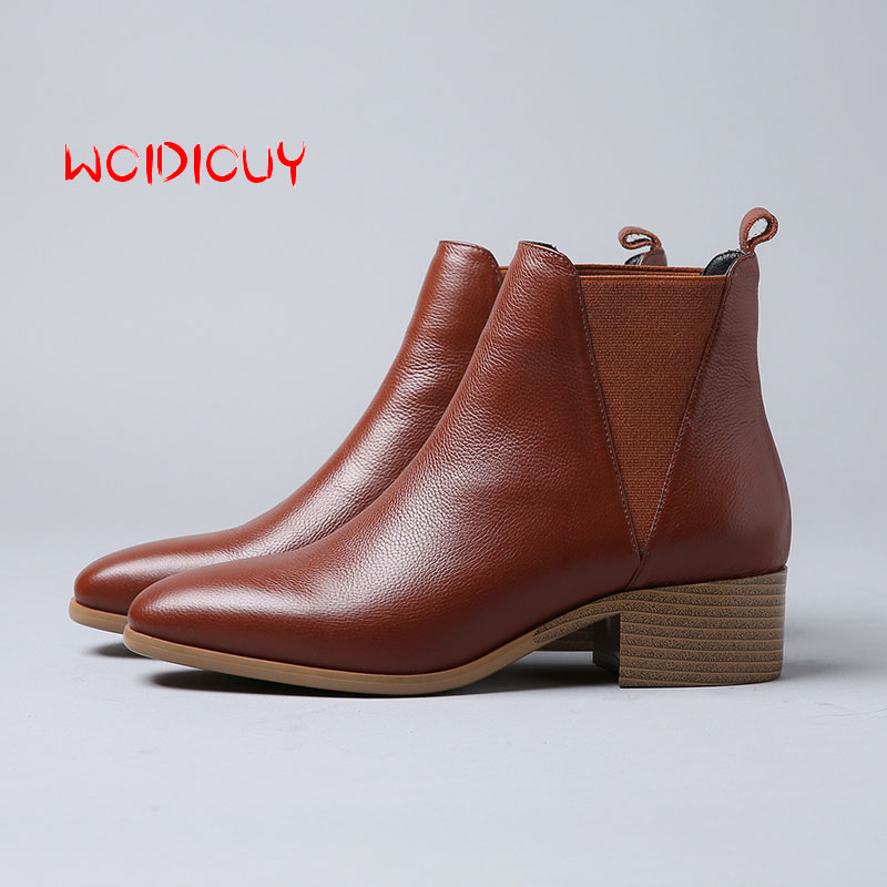 Comfortable Ankle Boots for Lady Winter Chelsea boots for Women Shoes botas mujer zapatos de mujer bota feminina bottes femme