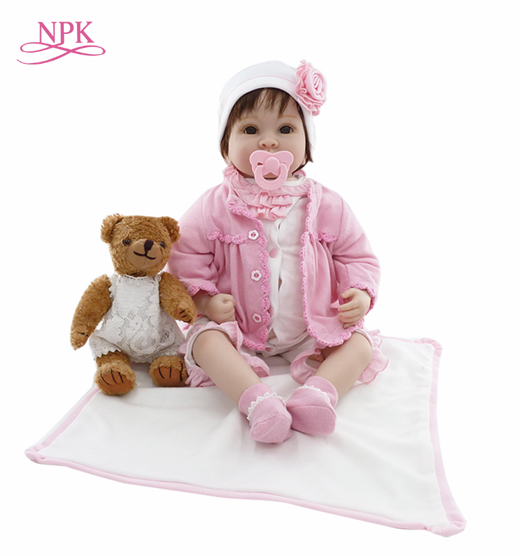 NPK 20นิ้วตุ๊กตาทารกเกิดใหม่ของเล่นDIYเต็มร่างกายซิลิโคนเหมือนจริงทารกตุ๊กตาสัมผัสนุ่มในช่วงต้นของการศึกษาของเล่นของขวัญbabydoll-ใน ตุ๊กตา จาก ของเล่นและงานอดิเรก บน   1