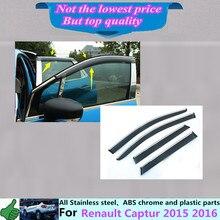 Freies verschiffen für Renault Captur 2015 2016 auto körper abdeckung Stick lampe kunststoff fensterglas Wind Visor Regen/Sonnenschutz Vent 4 stücke
