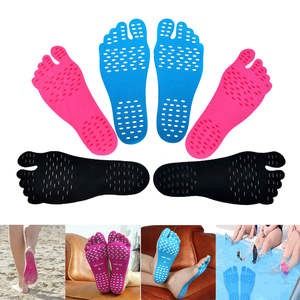 1 Pair Adhesive Foot Pads Feet Sticker Stick On Soles Flexible Anti-slip Beach