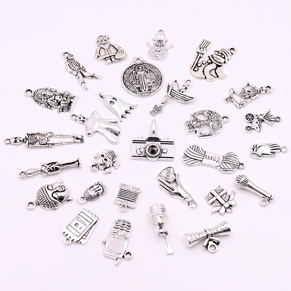 Free Ship 30Pcs Tibetan Silver Charms Pendant 13x9mm