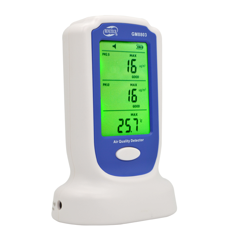 GM8803 Household Digital Rechargeable PM2.5 PM10 Air Quality Pollution Detector Monitor Sensor Air Quality Detector