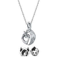 LOL Necklace XAYAH and RAKAN Couples Necklace 925 Silver Jewelry Charms Pendant Choker XAYAH Necklaces RAKAN for Women Men Gift