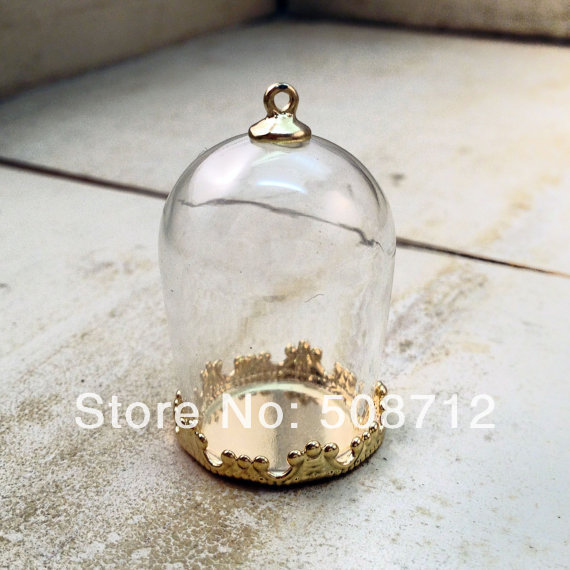Dome cloche glass bottle pendant diy gold plated brass base and top dome cloche glass bottle pendant diy gold plated brass base and top terrarium bottle charm apothecary aloadofball