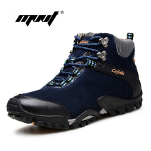 High Quality Suede Leather Men Boots Waterproof Anti-skid Winter Shoes Plus Size Classic Men Leather Shoes Plus Fur Snow Boots