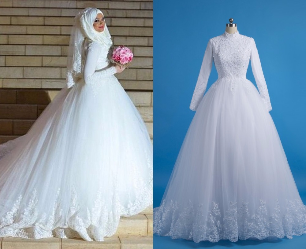 Beautiful Arabic Wedding Dresses With Hijab Photos - All Wedding ...