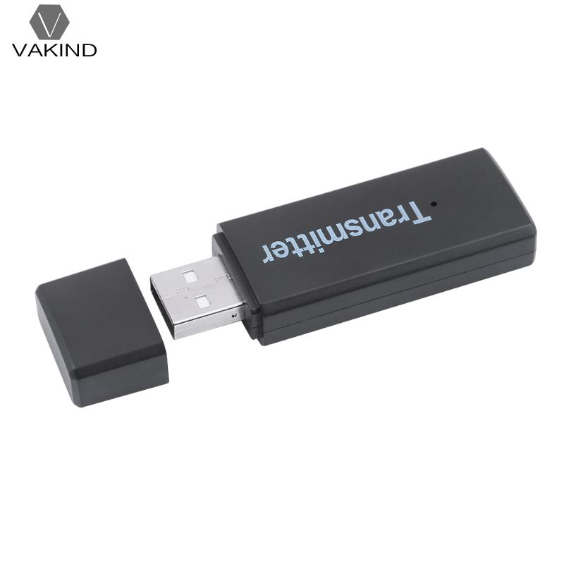 USB Wireless Bluetooth Audio Transmitter Adapter for Computer PC TV for iPod CD/MP3/MP4 Player with 3.5mm AUX Interface