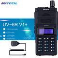 2PCS NKTECH 8W Walkie Talkie UV-6R V1+ VS Baofeng UV-6R Dual Display Radio VHF136~174MHz/UHF400~520MHz128CH+1PCS 2PPT Speaker