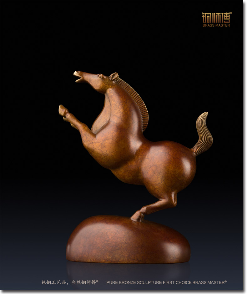sculpture pen crafts Master all copper brass ornaments crafts jewelry galloping horse Home Furnishing living room decoration