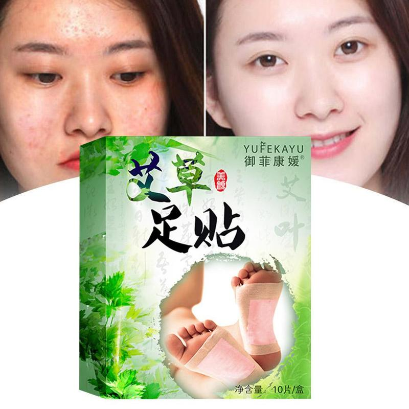 20pcs=(10pcs Patches+10pcs Adhesives) Detox Foot Patches Pads Body Toxins Feet Slimming Cleansing Herbal Adhesive 3