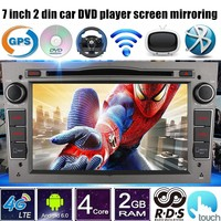 2 din 7 inch Android 6.0 Car DVD radio Player GPS Quad Core For Vauxhall Opel Astra H G J Vectra Antara Zafira Corsa 4G LTE
