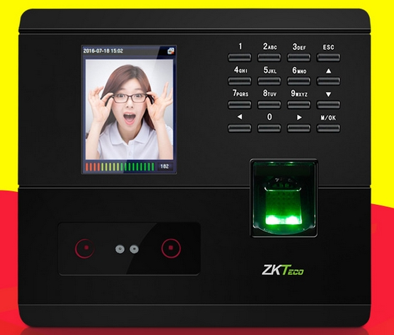 Biometric Face+fingerprint Recognition Attendance Machine Facial Door Lock Access