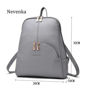 Image 3 - Nevenka Mini Backpack Women Light Weight Daypacks Girls Fashion Backpacks Ladies Leather School Bag Female Gray Backpack Black