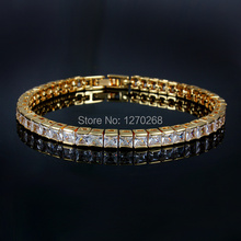 Luxury design  gold color charm bracelet with 4A Zircon Fashion Jewelry beautiful wedding gift Top quality