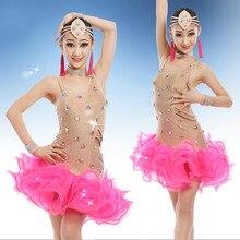 Children's Professional Latin Dance Dress Salsa Tango Rumba Samba Costume  Ballroom Dance Competition Dresses for Kids недорого
