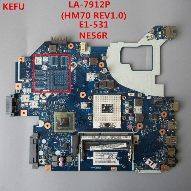 KEFU Miễn Phí vận chuyển máy tính xách tay bo mạch chủ cho ACER aspire E1-571G V3-571 V3-571G E1-571G NV56R LA-7912P NBC1F11001 DDR3 Kiểm Tra Đầy Đủ