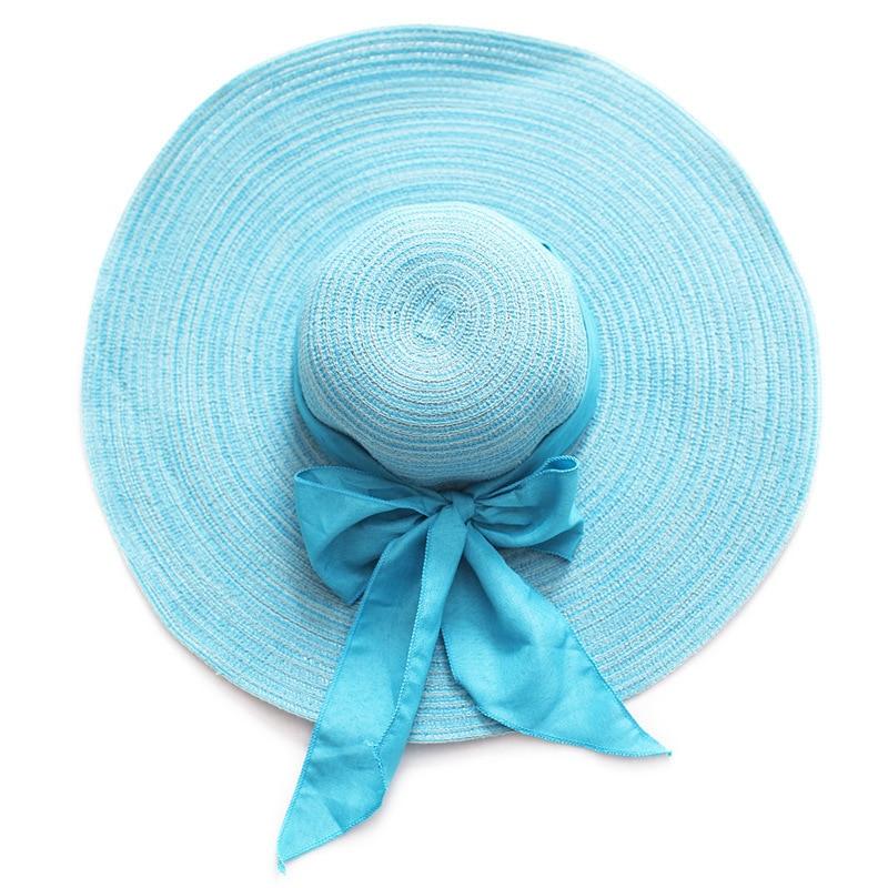 Strand Sonne Hüte Floppy Sonnenhut 2018 Damen Sommer Hut Bogen Silk Band Neue Marke Stroh Hüte Für Frauen Und Ausland Weithin Vertraut. Chapeu De Praia Um Eine Hohe Bewunderung Zu Gewinnen Und Wird Im In Chapeau Femme