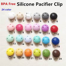 Jewelry Accessories - Fashion Jewelry - 10pcs Round Silicone Baby Dummy Teether Pacifier Chain Holder Clips DIY Baby Soother Nursing Draft Accessories Holder Clips
