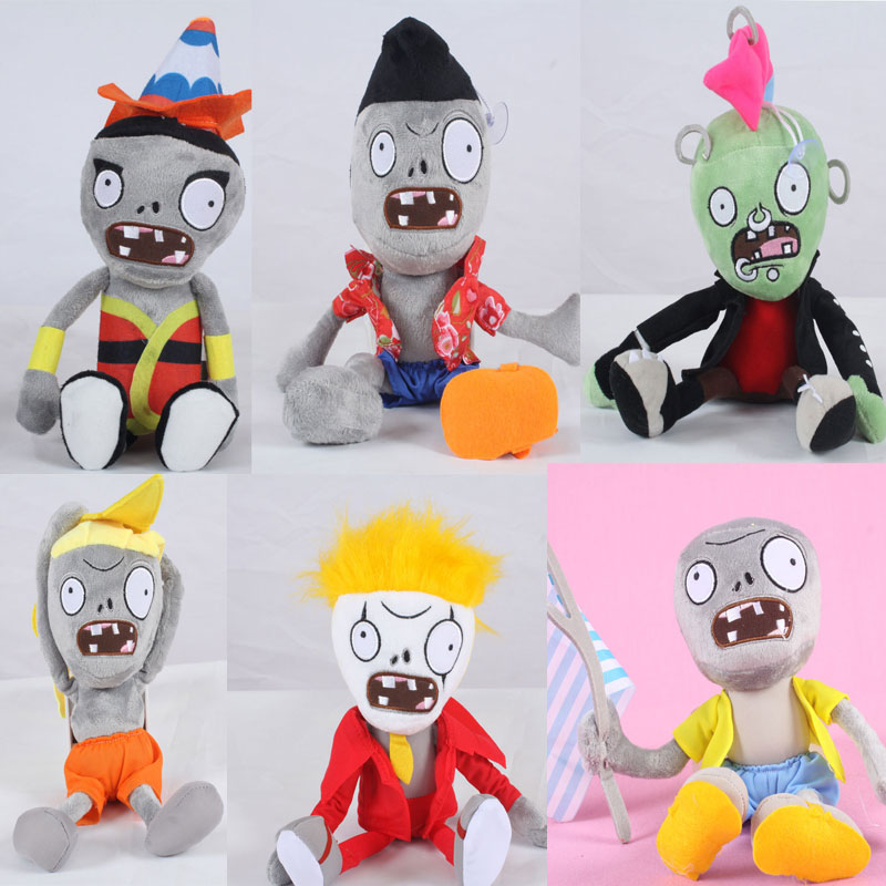 Newest 30cm PVZ Plant Vs Zombies Plush Toys 7 styles Zombies Plush Dolls