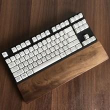 Черный орехового дерева клавиатуры остальных запястий pad натурального дерева защиты противоскольжения площадку рука Pad для 60 ключ для игр клавиатура