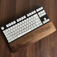 Siyah Ceviz Ahşap Dinlenme Klavye Bilek Istirahat Pad Doğal Ahşap koruma Anti-patinaj Ped El Pedi için 60 Anahtar Oyun Için klavye
