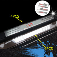 Stainless Steel Car Scuff Plate Door Sill Cover Panel Step Protector Guard For Ford Taurus 8PCS/SET AAA149