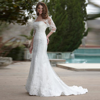 Alice Strapless Sexy Custom Made 2017 New Vintage Greek Style Mermaid Wedding Dress With Lace Jacket