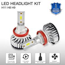 цена на 1 Set LED Car Headlight H11 For Nissan 2017 DC 12-24V 3000LM 6500K Hi/Low Beam Bulbs Super White