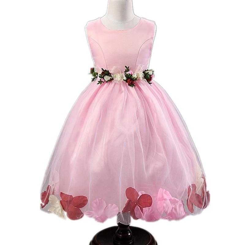 Vestido de niña de flores Fiesta de cumpleaños Vestidos de princesa - Ropa de ninos - foto 3
