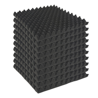 10pcs Egg Crate Acoustic Foam Panels Studio Soundproof Pads 50 X 50 X 5cm Wall Stickers for Home Decoration