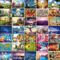 27 Types Hot Sale Adult 1000 pieces Jigsaw Landscape Cartoon Paper Puzzle Children Educational Toy Christmas Gift puzzles