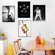 05a22fc67de38 جديد فريدي ميركوري الموسيقار المشارك البوهيمي الرابسودي جدار صورة فنية يطبع  اللوحة لغرفة المعيشة المنزل الديكور