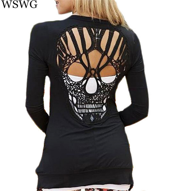 Skull Tops & Shirts Skulls tops are versatile outfits to have in your closet; whether you need it for a fancy dinner or the next rock concert, skull clothing will always stand out. Add a twist to your style by rocking a blazer and skinny jeans or skull leggings.
